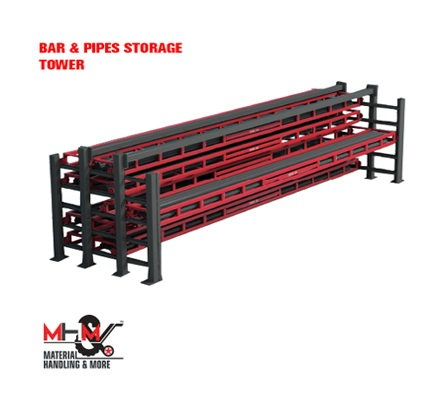 Bar And Pipes Storage Tower